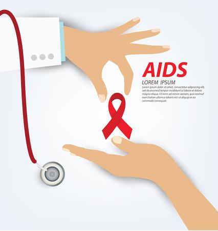 aids: Aids Awareness. World Aids Day concept.