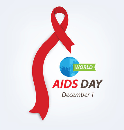 alert ribbon: Aids Awareness. World Aids Day concept. Illustration