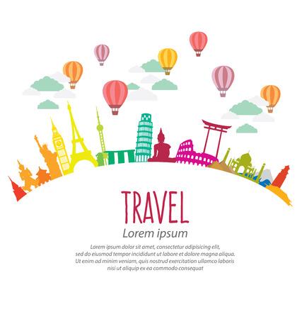 Reizen en toerisme concept