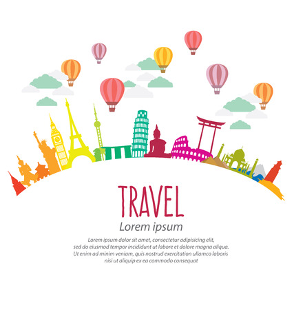 world travel: Travel and tourism concept
