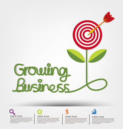 El crecimiento del negocio concepto de ilustración vectorial.