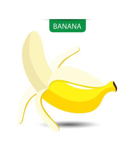 banane: Banana, vecteur de fruit illustration Illustration