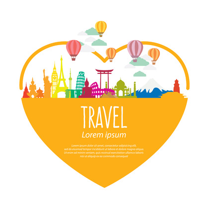 marina bay sand: Travel and tourism concept vector Illustration