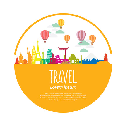sand: Travel and tourism concept vector Illustration