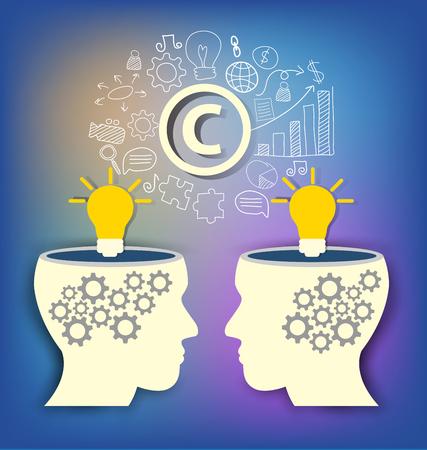 Copyright concept. vector illustration.