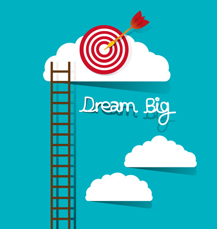 big: Dream big concept vector illustration.