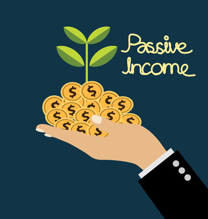 passive income: passive income concept vector Illustration