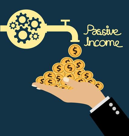 passive earnings: passive income concept vector Illustration