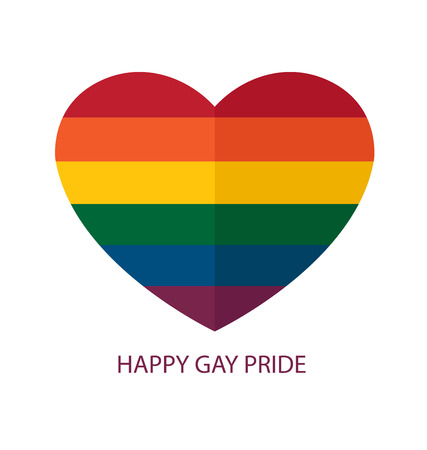 gay love: LGBT colors hearts, Symbol of gay love, Vector background.