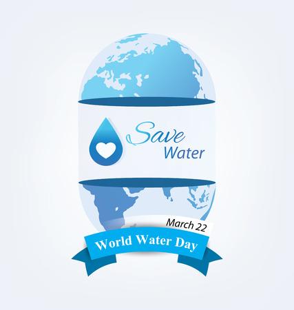 Concepto del Día Mundial del Agua. Ilustración del vector. Ilustración de vector