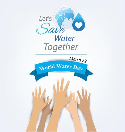 Concepto del Día Mundial del Agua. Ilustración del vector.