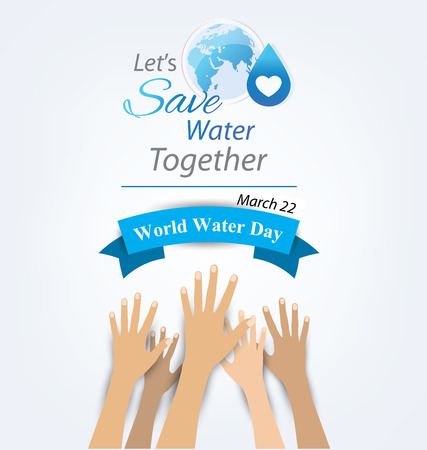 water drip: World Water Day concept. Vector illustration.