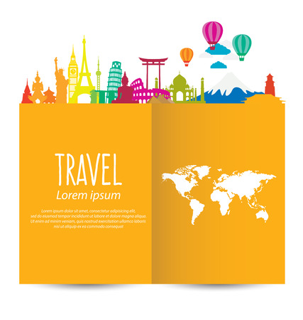 Reizen en toerisme begrip vector Illustratie Stock Illustratie