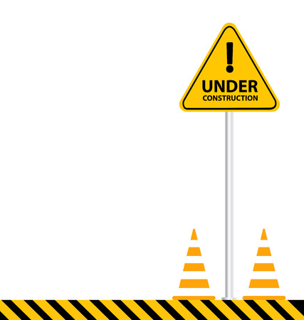 vector sign under construction: under construction background vector illustration