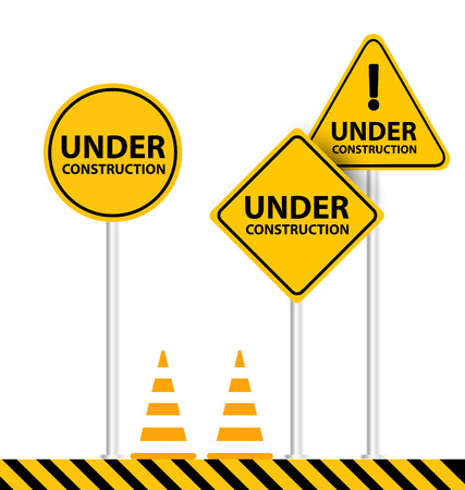 construct: under construction background vector illustration
