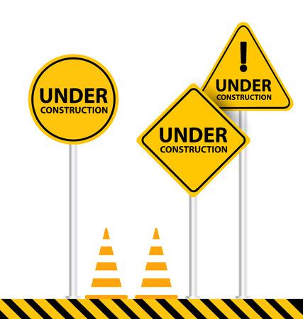 under construction: under construction background vector illustration