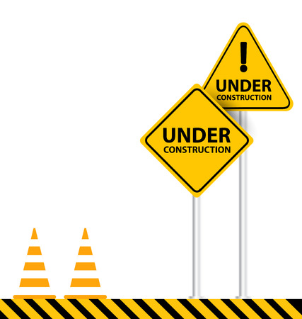 industrial safety: under construction background vector illustration