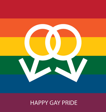 gay love: rainbow colors, Symbol of gay love, Vector background. Illustration