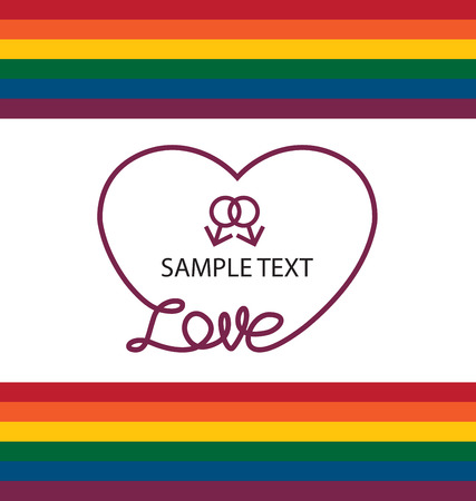 gay: LGBT colors hearts, Symbol of gay love, Vector background.