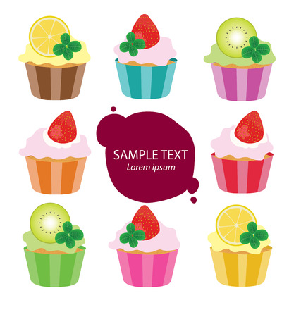 cup cake: Cake vector illustration
