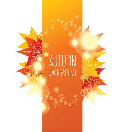 maple autumn leaves Ilustração