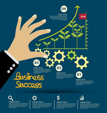 posicionamiento de marca: El éxito del negocio concepto de ilustración vectorial.