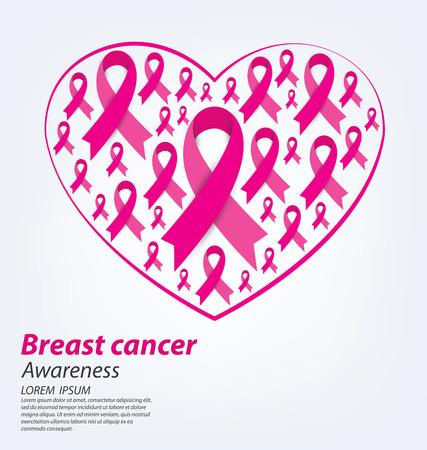 cancer: healthcare and medicine concept. pink breast cancer awareness ribbon vector illustration.