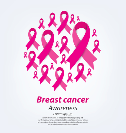 breast cancer awareness: healthcare and medicine concept. pink breast cancer awareness ribbon vector illustration.