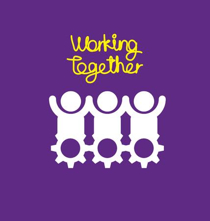juntos: Trabajando juntos concepto de ilustración vectorial.