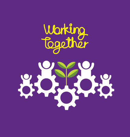 working together: Working together concept vector illustration. Illustration