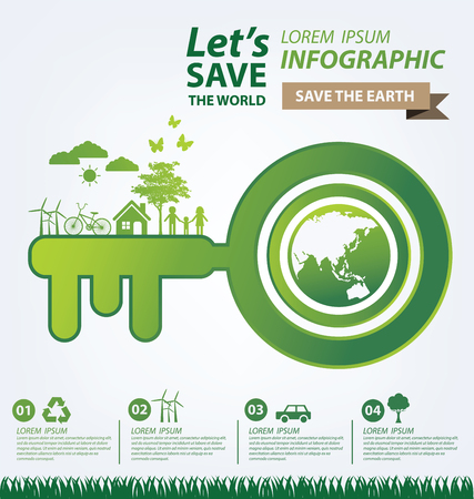 clean energy: Ecology concept. save world vector illustration. Illustration