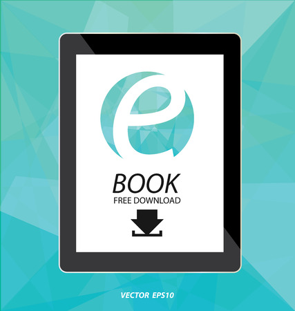 display: E-book display on tablet vector