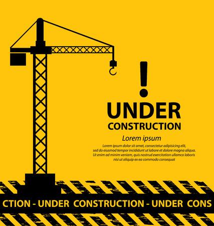 construction background: under construction background vector illustration