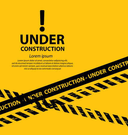 señales de seguridad: en construcción de fondo ilustración vectorial Vectores