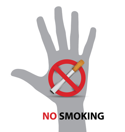 no smoking sign. vector illustration. Illusztráció