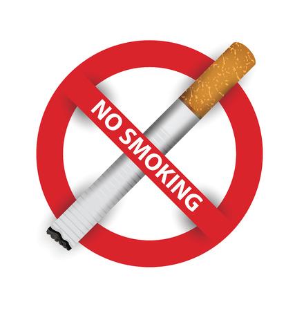 humo: señal de no fumar. ilustración vectorial.