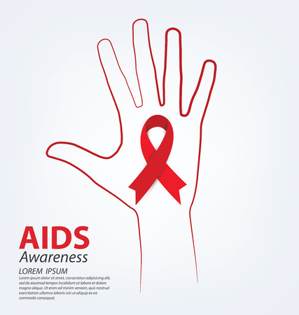 sexual nude: Aids Awareness concept vector illustration.