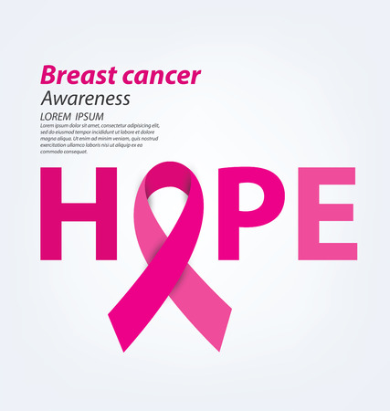 cancer ribbon: healthcare and medicine concept. pink breast cancer awareness ribbon vector illustration.