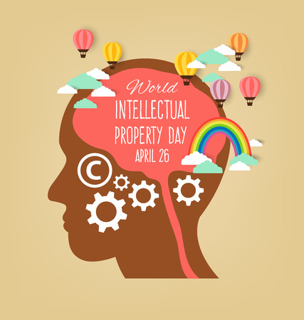 intellectual property: World Intellectual Property Day. vector illustration.