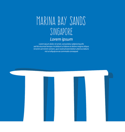 marina bay sand: Marina Bay Sands, Singapore, Travel and tourism concept vector Illustration. Illustration