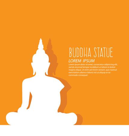 bouddha: Thaïlande, Voyage et le vecteur concept de tourisme Illustration.