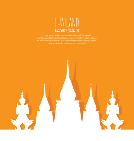 Thailand, Travel and tourism concept vector Illustration. Vector Illustration