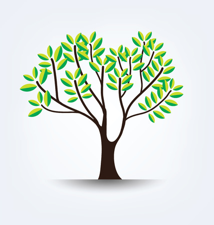 leaved: Tree vector illustration