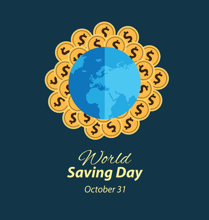 passive earnings: World savings day. vector illustration.