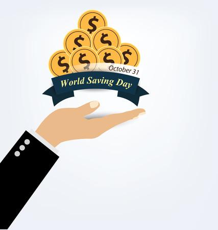 stimulate: World savings day. vector illustration.