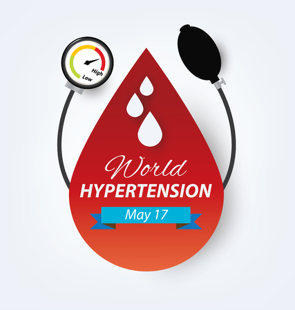 blood pressure monitor: hypertension concept. vector illustration.