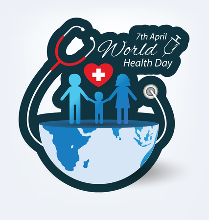 World health day concept. Vector illustration. Illusztráció