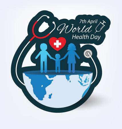 heart symbol: World health day concept. Vector illustration. Illustration