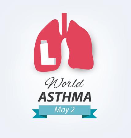 asthma: asthma concept. World Asthma Day.
