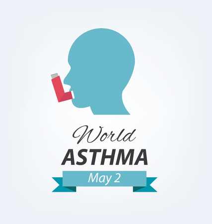 asthma: concepto de asma. Día Mundial del Asma.